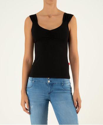 Camiseta-Manga-Sisa-Recogido-En-Escote-11045813-Negro_1